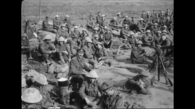 battle of arras - british norfolk soldiers resting - resting stock videos & royalty-free footage
