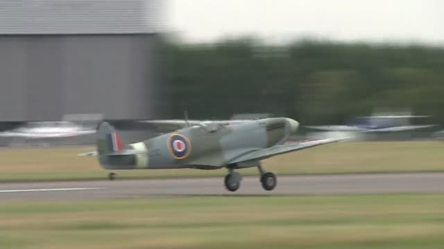 battle of britain: flypast to mark 75th anniversary of 'hardest day'; england: london: bromley: biggin hill: ext man ringing bell sot military... - biggin hill stock videos & royalty-free footage