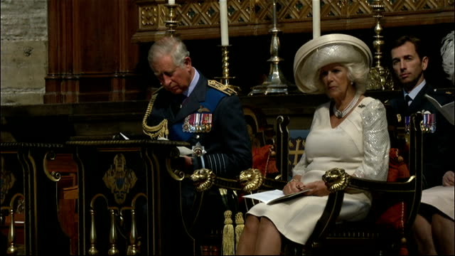 Battle of Britain Thanksgiving Service ENGLAND London Westminster Westminster Abbey THROUGHOUT*** Prince Charles and Camilla Duchess of Cornwall into...