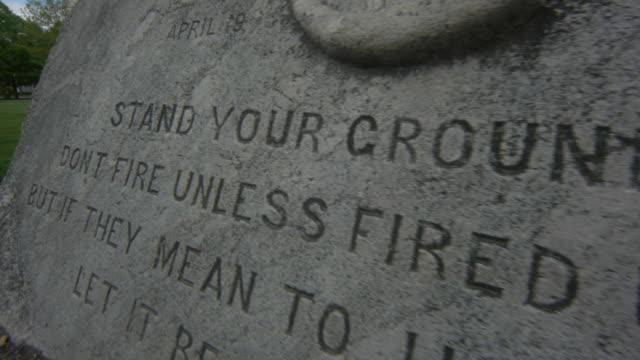 battle of lexington stone monument - lexington massachusetts stock videos & royalty-free footage