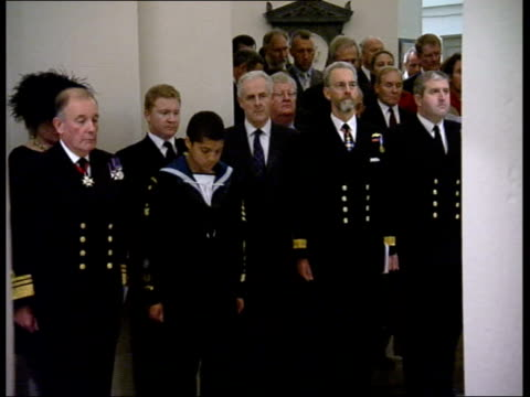 200th anniversary commemorated; st paul's cathedral: int tomb of nelson as officials gathered in crypt for commemorative service naval officers... - crypt stock videos & royalty-free footage