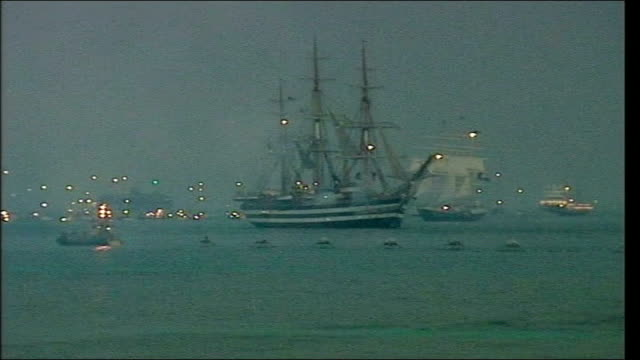 battle of trafalgar bicentenary celebrations fly past and reenactment england portsmouth reenactment of battle of trafalgar using grand turk ship to... - historical reenactment stock videos & royalty-free footage