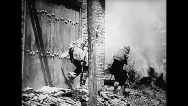 battle scenes during japanese forces' invasion of shanghai, china - 1937 stock videos & royalty-free footage