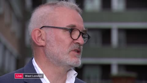 battle to save kensington and chelsea college near grenfell tower; live: england: london: north kensington: ext bob and roberta smith and andrew boff... - smith tower stock-videos und b-roll-filmmaterial