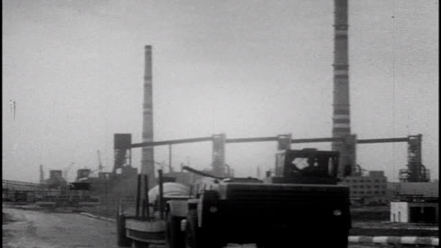 battlefield scars construction explosions factories oil well in belgorod oblast 1983 soviet film commemorating the victory at the battle of kursk - kommunismus stock-videos und b-roll-filmmaterial
