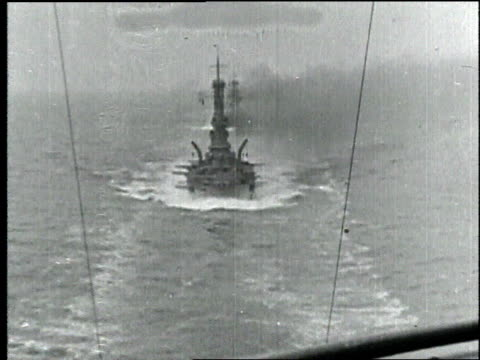 s battleships traverse through water - 1918 stock videos and b-roll footage