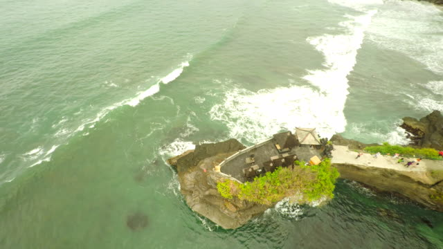 AERIAL Batu Bolong Temple With The Coastline