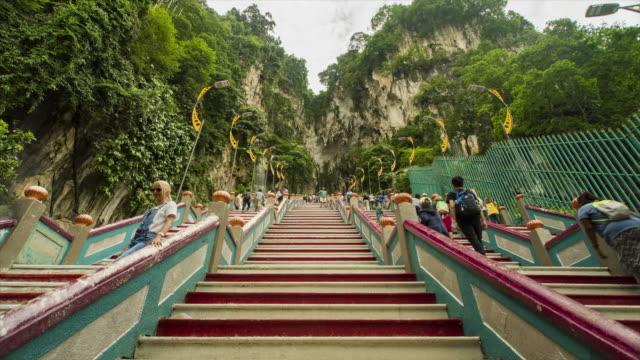 Batu Caves Staircase, Malaysia - 4K Time lapse