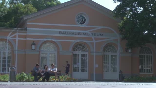 bauhaus museum in weimar - weimar stock videos & royalty-free footage