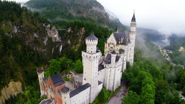 bavaria landmarks - neuschwanstein castle - castle stock videos & royalty-free footage