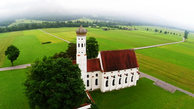 bavaria landmarks - st. coloman chapel - catholicism stock videos & royalty-free footage