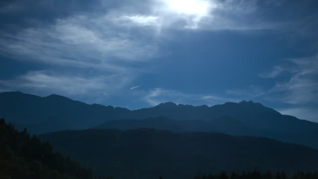 Bavarian Alps time lapse - day->night->day transition