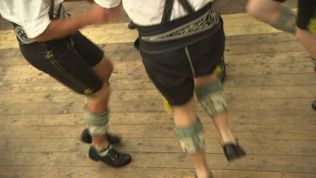 bavarian dance group, legs