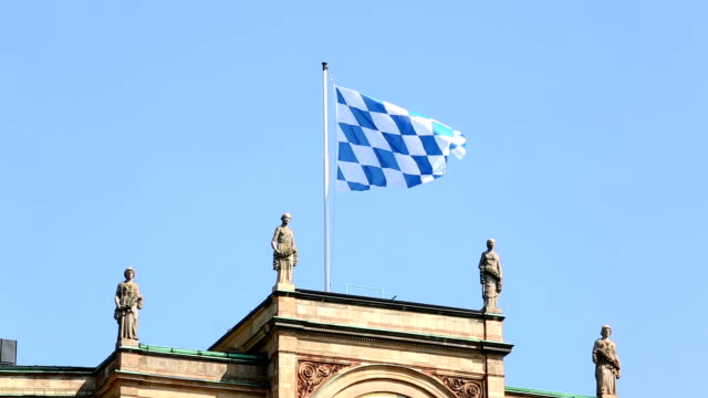 bavarian flag - bavaria stock videos & royalty-free footage