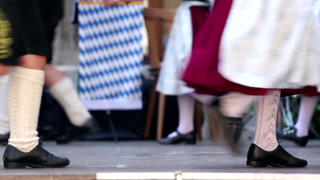 bavarian folk dance group - traditional dancing stock videos and b-roll footage