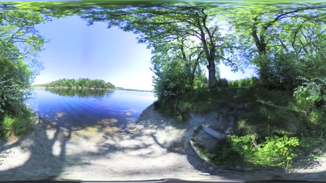 360 VR: Bavarian Lake in spring