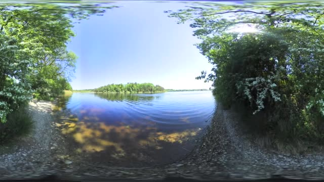 360 VR: Bavarian Lake in spring