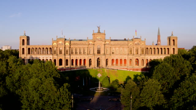 bavarian landtag, munich, maximilaneum - paintings stock videos and b-roll footage