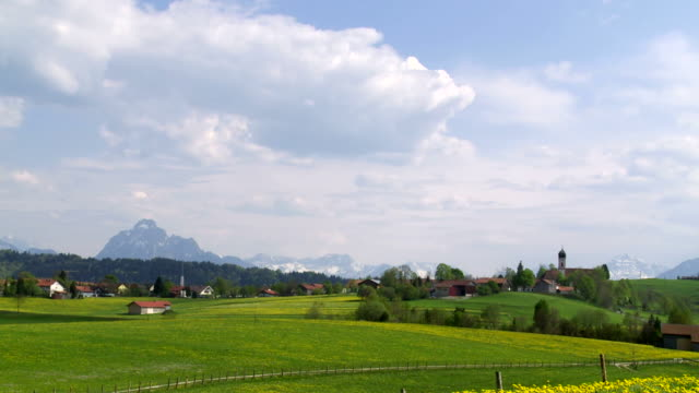 T/L Bavarian Mountain Landscape Near Seeg Village