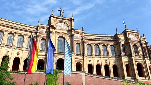 bavarian state parliament in munich - bavaria stock videos & royalty-free footage