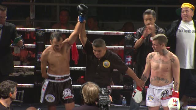 baxter humby at the muaythai premier league debuts at long beach ca - muay thai stock videos and b-roll footage