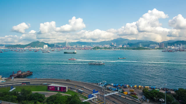 bay area hong kong city in timelapse - 2013 stock videos & royalty-free footage