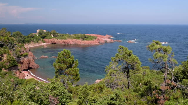 bay at cap roux - var stock videos & royalty-free footage
