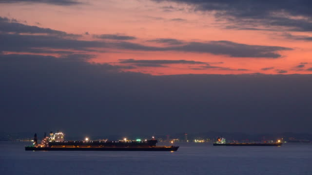 bay at dusk - tokyo bay stock videos and b-roll footage