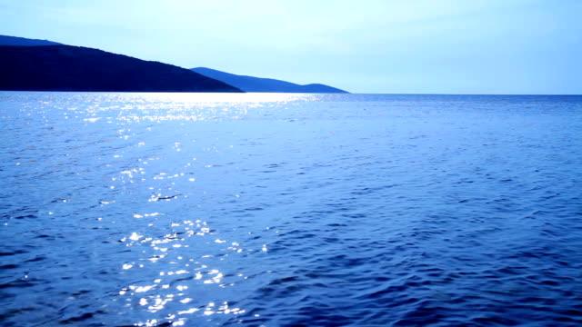 HD: Bay At Dusk With Calm Sea Waves