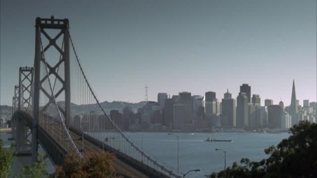 MS, Bay Bridge and downtown skyline, San Francisco, California, USA