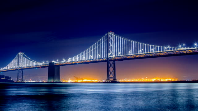 bay bridge, ca - san francisco oakland bay bridge stock videos and b-roll footage