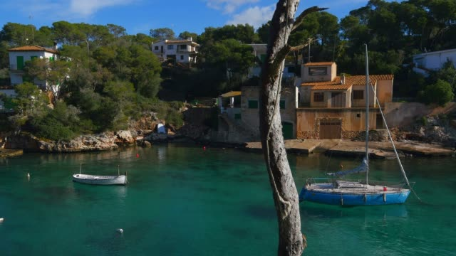 bay of cala figuera, mallorca (majorca), balearic islands, spain, mediterranean, europe - balearic islands stock videos and b-roll footage
