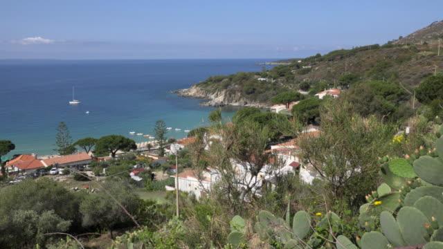 pan / bay of cavoli - island of elba stock videos & royalty-free footage