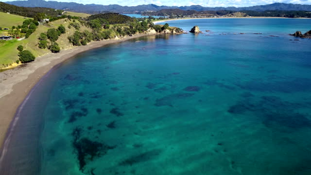 bay of islands aerial view - documentary footage stock videos & royalty-free footage