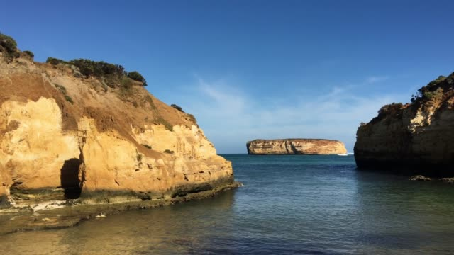 bay of islands at port campbell national park great ocean road in victoria australia - port campbell national park stock videos & royalty-free footage