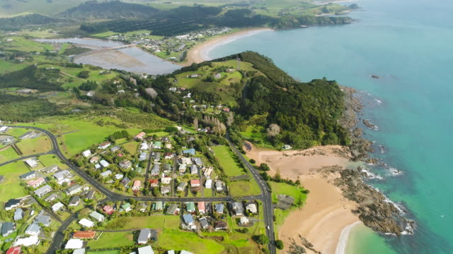 bay of islands housing. - bay of islands new zealand stock videos & royalty-free footage