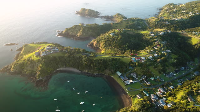 bay of islands. - bay of islands new zealand stock videos & royalty-free footage
