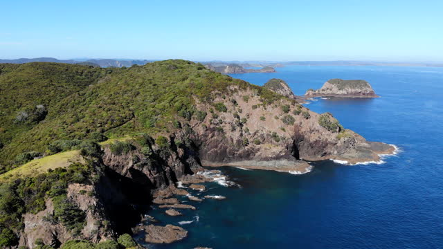 bay of islands - bay of islands new zealand stock videos & royalty-free footage