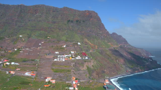 Bay of valley Hermigua on Canary Islands La Gomera in the province of Santa Cruz de Tenerife - Spain