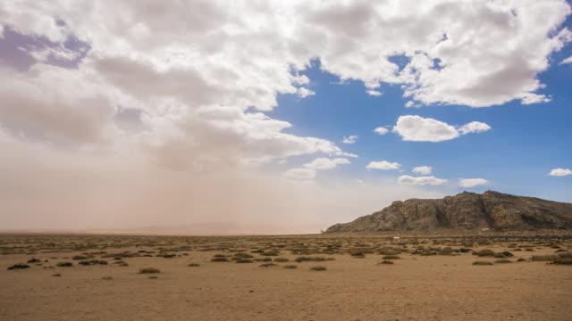 bayan gobi desert (elsen tasarkhai sand dunes) / mongolia - dust storm stock videos & royalty-free footage