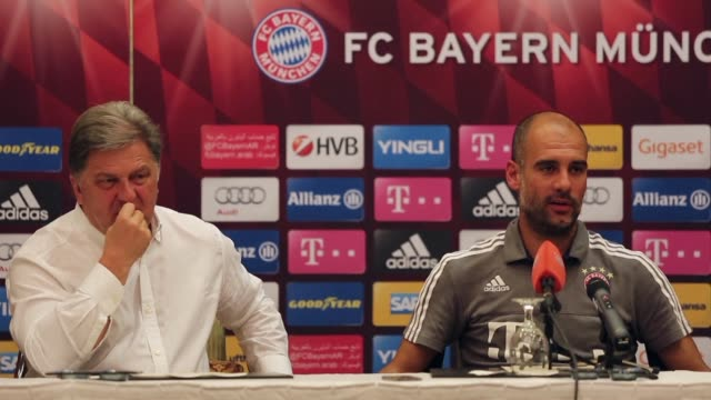 Bayern Munich coach Pep Guardiola says he will be leaving the club at the end of the season for a club in England but again refused to be drawn on...