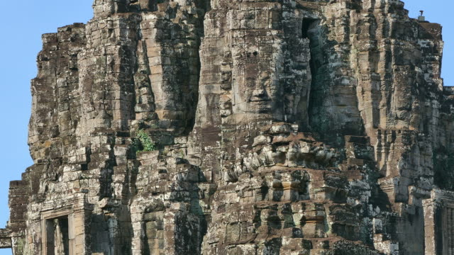 bayon temple of angkor thom in cambodia - circa 13th century stock videos & royalty-free footage