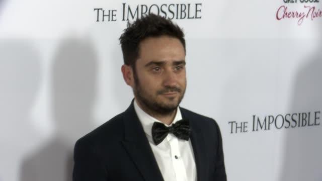 ja bayona at the impossible los angeles premiere on 12/10/12 in los angeles ca - juan antonio bayona stock videos and b-roll footage