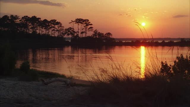WS Bayou lagoon at sunset