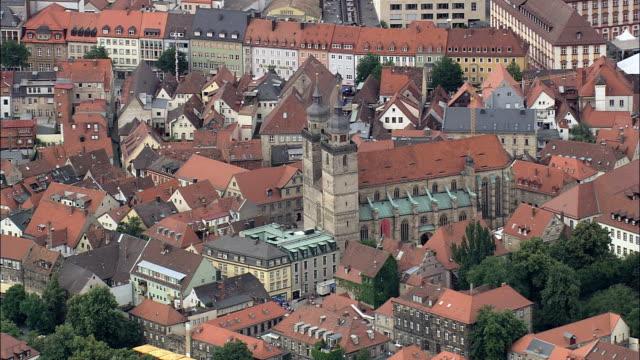 Bayreuth Cathedral  - Aerial View - Bavaria,  Upper Franconia,  Kreisfreie Stadt Bayreuth helicopter filming,  aerial video,  cineflex,  establishing shot,  Germany