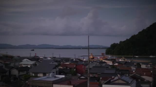 bayside village, shimane, japan - shimane prefecture stock videos & royalty-free footage