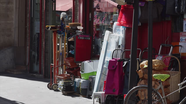 bazaar shop, small business in paris - small stock videos & royalty-free footage