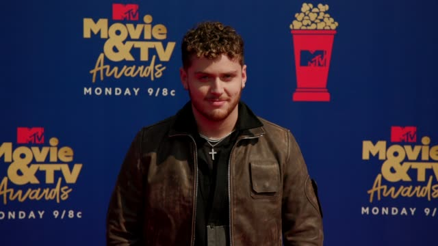 bazzi at the 2019 mtv movie & tv awards at barkar hangar on june 15, 2019 in santa monica, california. - mtvムービー&tvアワード点の映像素材/bロール