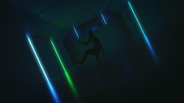 B-Boy-Breakdance mit Stärke und Flexibilität