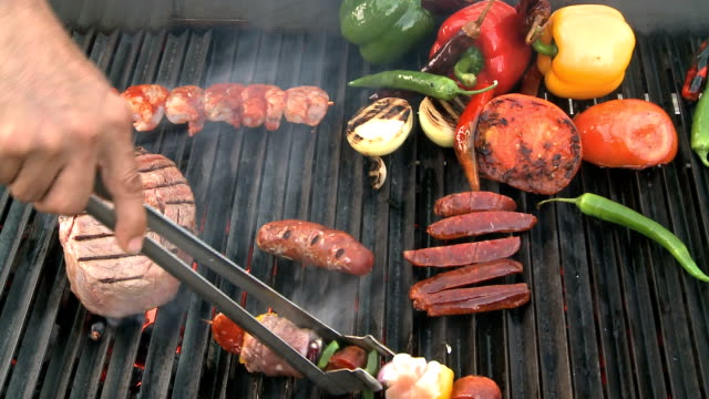 bbq - eating utensil stock videos and b-roll footage
